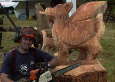 Chainsaw training with phil dunford chainsaw carving